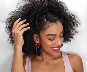 black women, natural hair, and curly frizz image