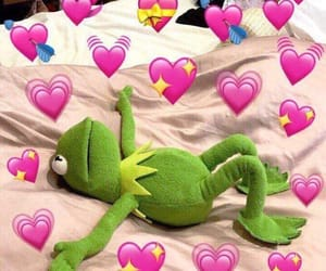 meme, kermit, and heart image