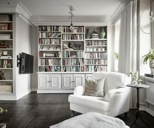 armchairs, bookcases, and home decor image