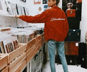 vintage, records, and outfit image