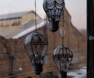 art, lamp, and airballon image