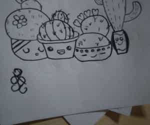as, drawing, and cactus image