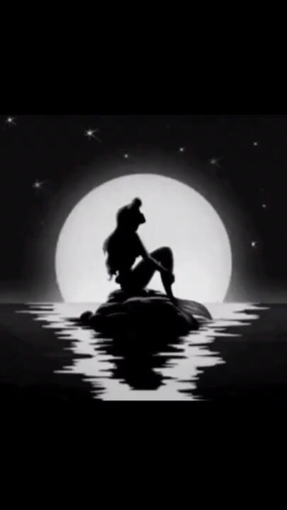 black and white, live, and the little mermaid image