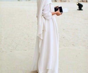 hijab, abaya, and dress image