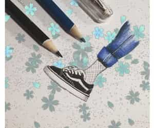 blue, shoes, and draw image