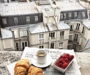 paris, coffee, and food image