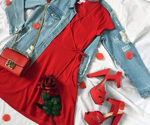 date, outfit, and red image