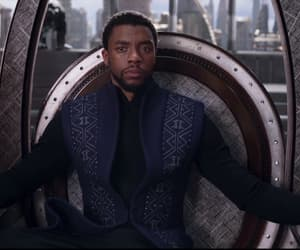 black panther, Marvel, and gif image