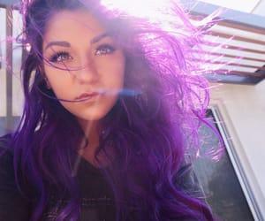 andrea russett, beautiful, and purple hair image