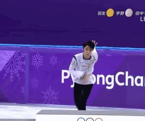 figure skating, yuzuru hanyu, and gif image