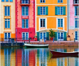 Houses, pretty, and river image