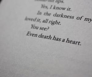 Darkness, quotes, and heart image