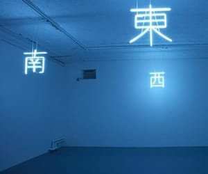 blue, aesthetic, and neon image
