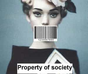 society, property, and vintage image
