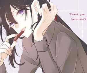 anime, black, and valentine image