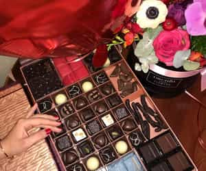flowers and chocolate image