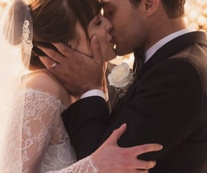 Jamie Dornan, dakota johnson, and wedding image