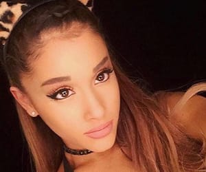 cat ears, celebrity, and ariana image