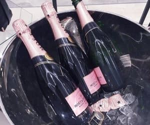 champagne, drink, and pink image