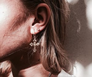 earrings, indie, and fashion image