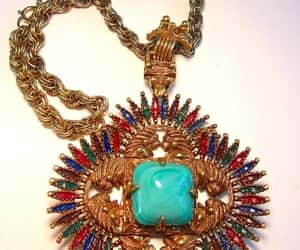 aztec, necklace, and turquoise image