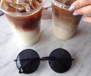 brown, coffe, and ice image