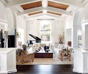 dream house, interior decoration, and piano image