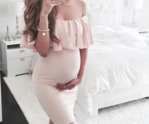 baby, belly, and dress image