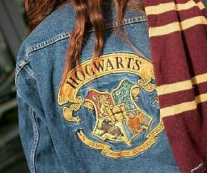 hogwarts, jacket, and denim image