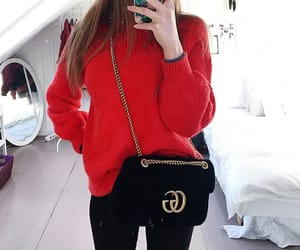 bag, red, and gucci image