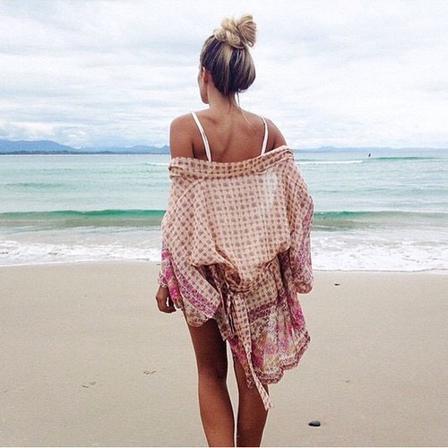 beach, sea, and bun image
