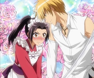 anime, couple, and kaichou wa maid sama image
