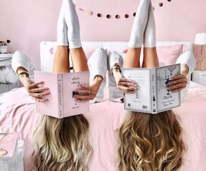 girls, bff, and book image