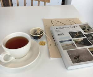 tea, aesthetic, and book image
