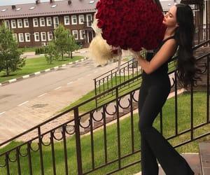 flowerpower, red, and biglove image