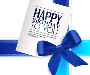 birthday, blue, and card image