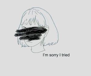 sad, quotes, and art image