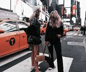 fashion, city, and friends image