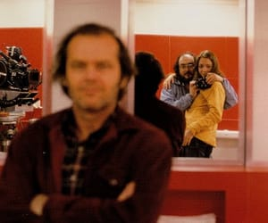 jack nicholson, Stanley Kubrick, and The Shining image