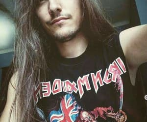 iron maiden, long hair, and man image