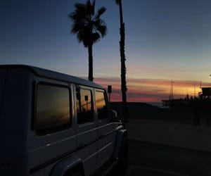jeep, sunset, and trees image