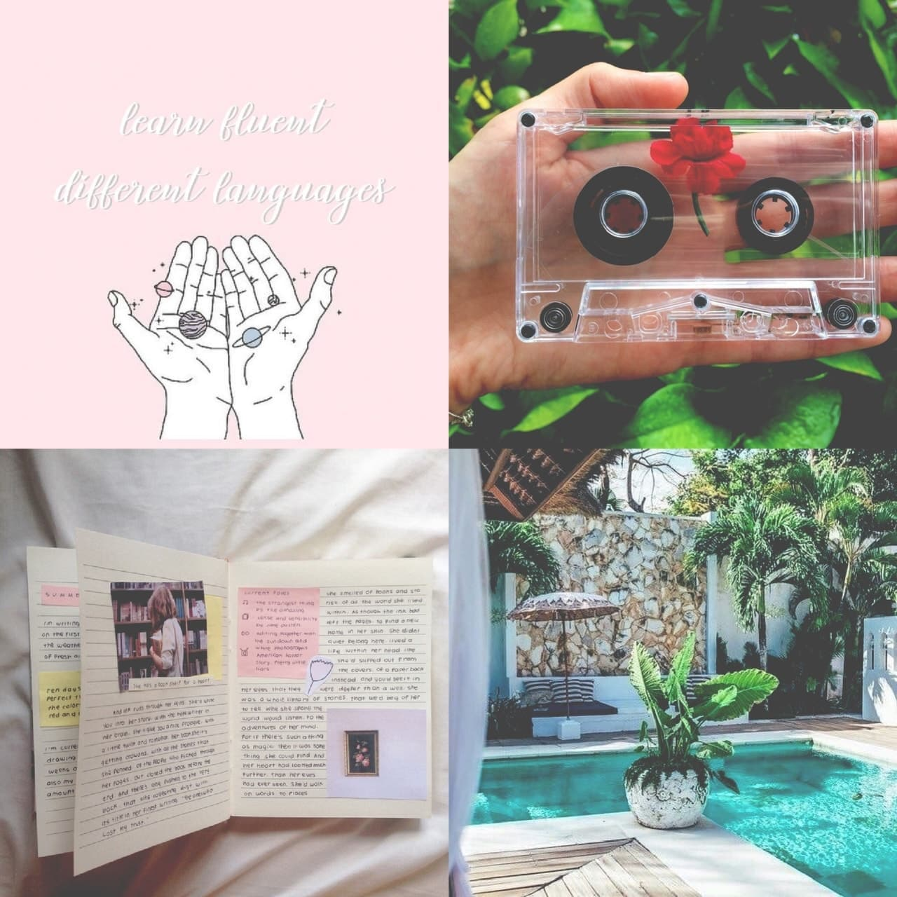 books, music, and flower image