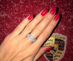 car, girl, and ring image