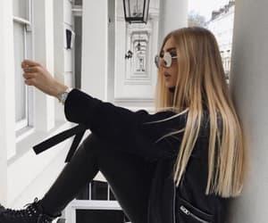 black, girl, and jacket image
