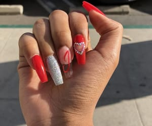 acrylic, nails, and valentine image