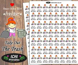 etsy, redhead, and printable stickers image