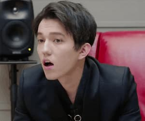 dimash, funny face, and gif image