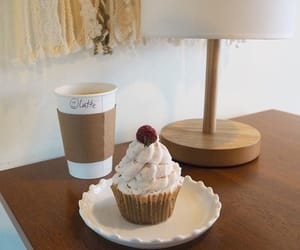 food, coffee, and cupcake image