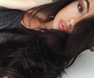 beauty, black hair, and makeup image
