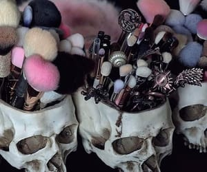 makeup and skulls image